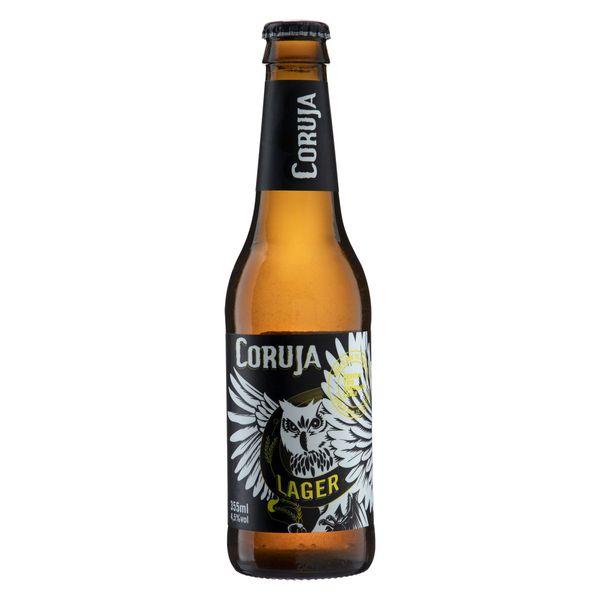 Cerveja Lager CORUJA 355ml Cerveja Lager American CORUJA Garrafa 355ml
