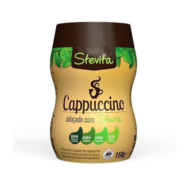 Cappuccino Zero Açúcar STEVITA Pote 150g
