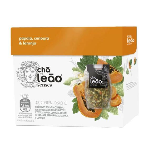 Chá Papaia Cenoura Laranja Senses Leão 10un 32Gg
