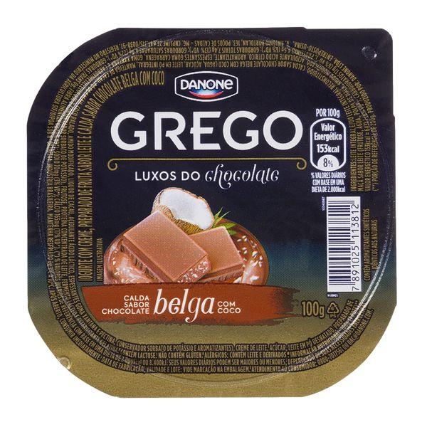 Iogurte Grego Calda de Chocolate Belga Com Coco Danone Pote 100g