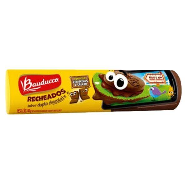 Biscoito Recheado BAUDUCCO Gulosos Duplo Chocolate Pacote 140g