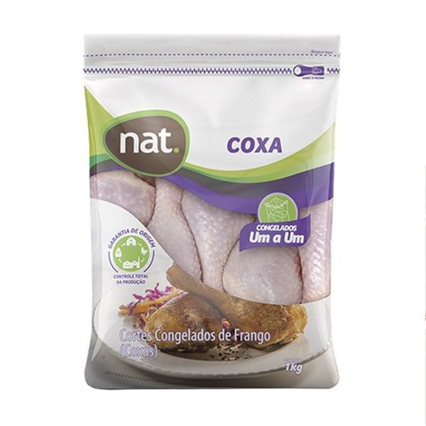 Coxa de Frango NAT Congelado Pacote 1kg