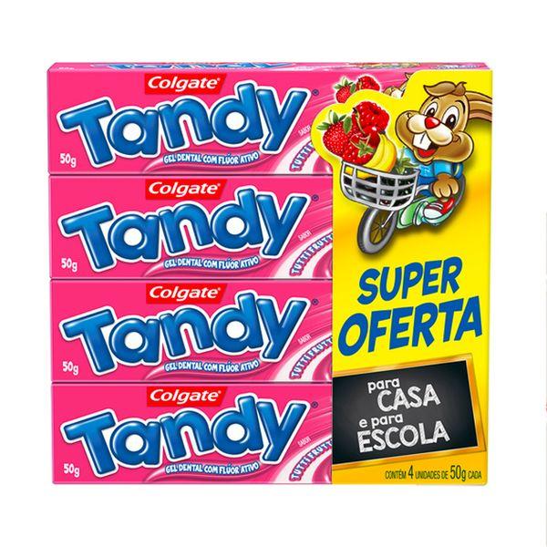Creme Dental Gel Infantil Colgate TANDY Tutti Frutti 4un 50g