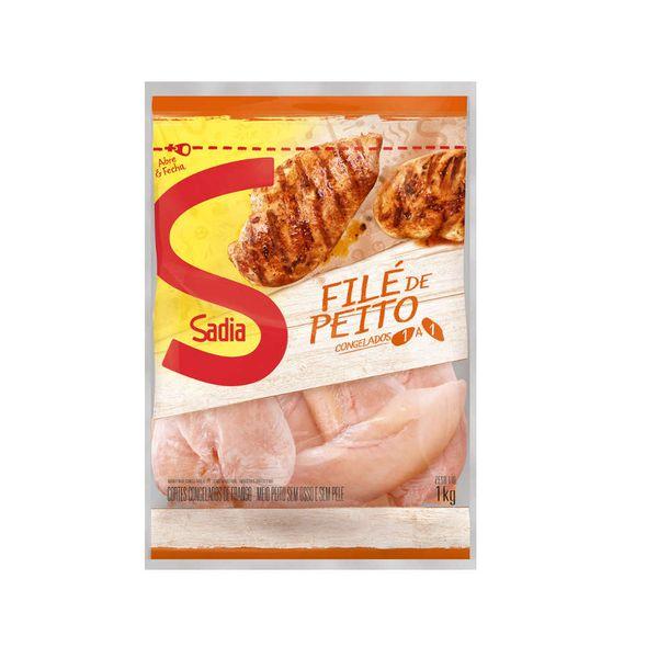 Filé de Peito de Frango Congelado SADIA Pacote 1kg