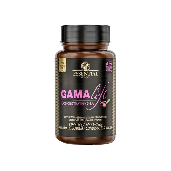 Gamalift GLA Concentrado ESSENTIAL Nutrition 120 Cápsula Pote 60g