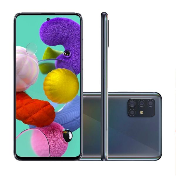 Smartphone SAMSUNG Galaxy A51 128GB Preto Tela Infinita 6.5''