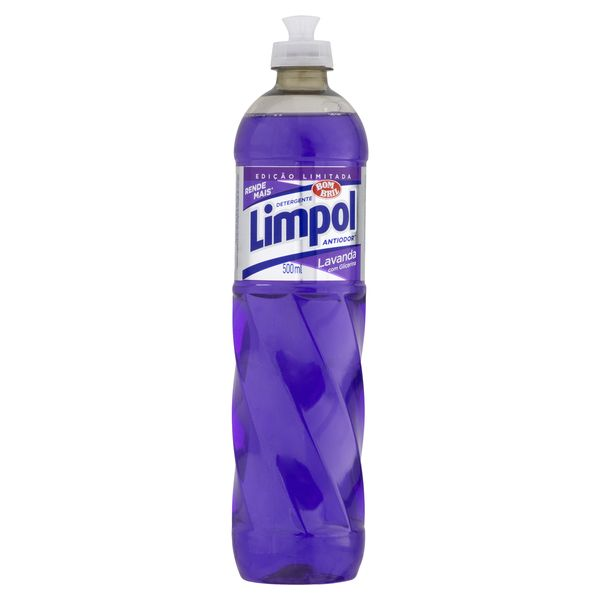 Detergente Líquido LIMPOL Lavanda com Glicerina Frasco 500ml