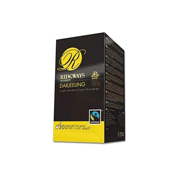 Chá Darjeeling RIDGAWAYS London Contém 20 Sachês Caixa 40g