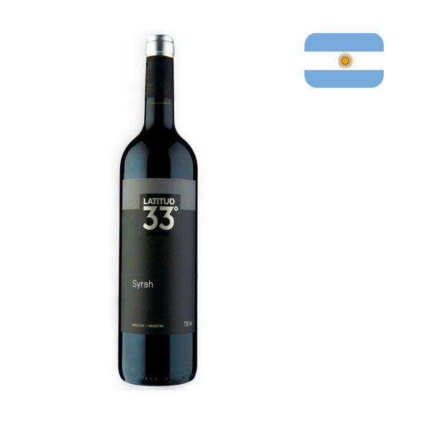 Vinho Tinto Argentino LATITUD 33 Syrah Garrafa 750ml