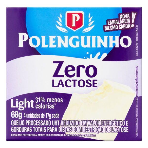 Queijo Processado UHT Light Zero Lactose Polenguinho 68g 4 Unidades