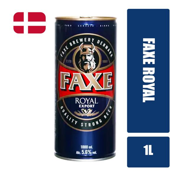 Cerveja Lager Premium FAXE Royal Export Lata 1l