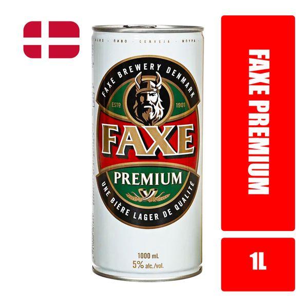 Cerveja American Larger FAXE  Premium Lata 1l Cerveja American Larger FAXE  Premium  Lata 1l