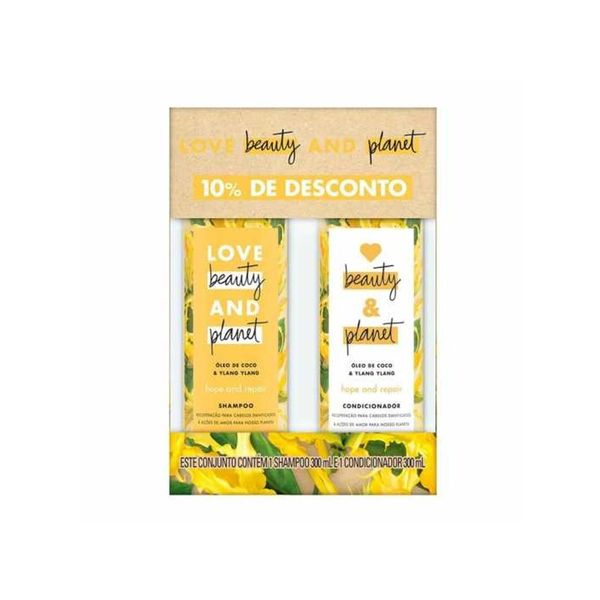 Love BEAUTY and PLANET kit Shampoo e Condicionador Hope and repair 300ml